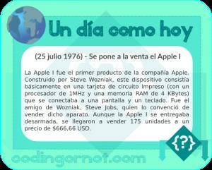 Se pone en venta el Apple I