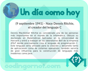 Nacimiento de Dennis Ritchie