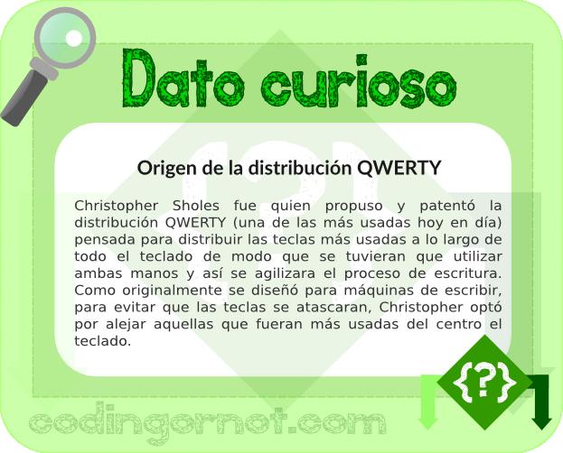 Origen de la distribución QWERTY