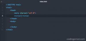 Estructura básica de código HTML