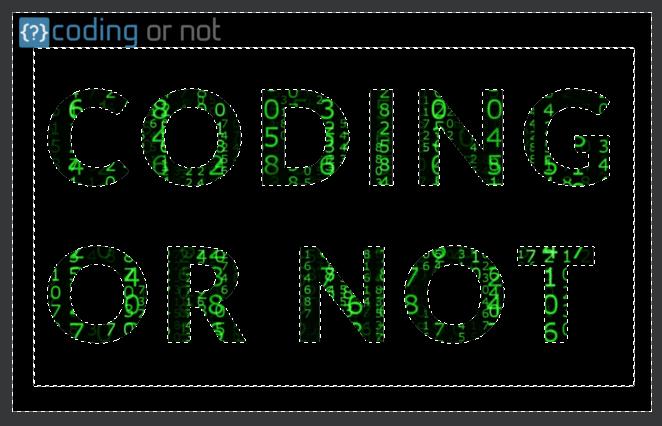 Invierte selección actual GIMP