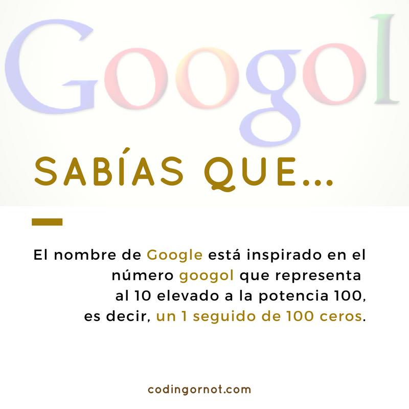 Sabías que.. Google