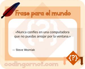 Frase de Wozniak