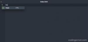 Menú para snippet HTML